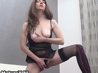 horny brunette mature wife in hot darksome part8