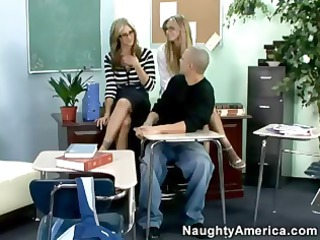 super-hot milfs give college lad a real awesome