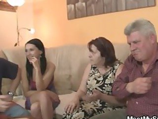 his gf is seduced by old mom and screwed by old