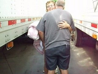 non-professional wife dogging with truckdriver
