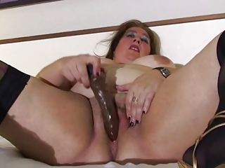 big beautiful woman older in couch