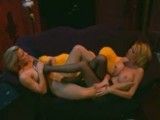breasty blond milfs in hose with a foot fetish