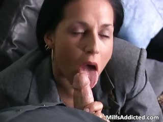lustful brunette hair mother i secretary gets