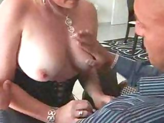 short-haired golden-haired french bimbo milf