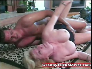 thirsty granny drilled man
