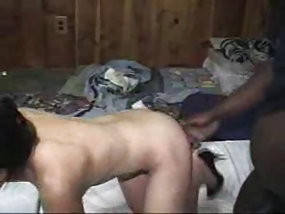 asian wife being used by darksome bull in front