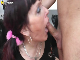 old slut mother receives drilled by her toyboy
