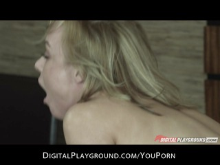 hot blond wife kayden kross rides hard ramrod to