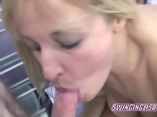 blonde liisa swallows a dong in this pov scene