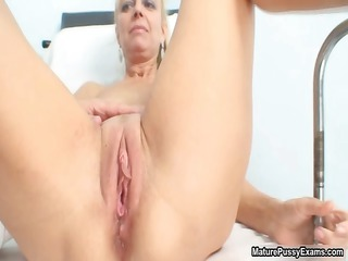 slutty mature patient toying her pink part6