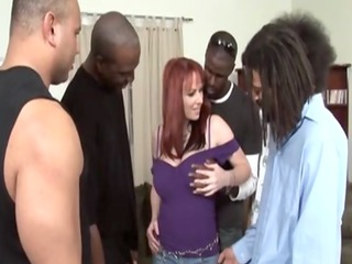 interracial sexy redhead mother i gangbanged