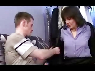 german mother and lad