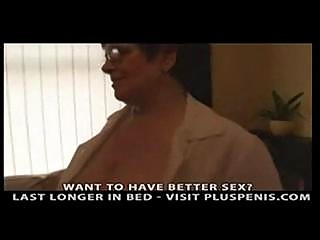 breasty granny in dark stockings fingering part6