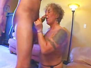 tattooed old biker playgirl gets freaky