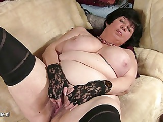 big titted granny showing her old bawdy cleft