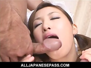 lustful milf heads into a hotel room to clean up