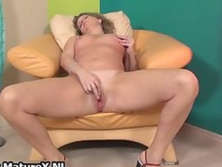 horny aged lady widens her legs part9