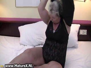 bulky older housewife is slutty and plays part9