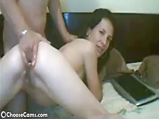 webcam wife gets gazoo fisted