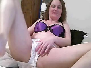 mature in satin pants
