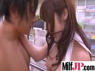 busty asians milfs acquires team-fucked actually