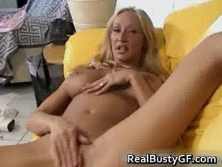 breasty horny mama plays with her cookie part0