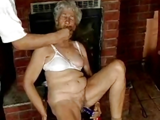 curly granny with dildos