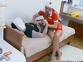 mature russian nurse seduce patient