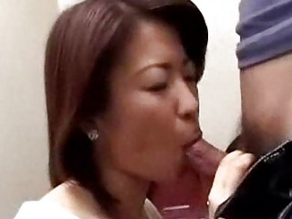 japanese mommy caught lad masturbating in latrine