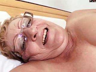 bushy granny in glasses gets bbc