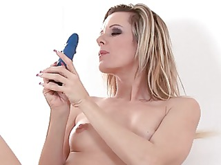 dildo gets lost in milfs bushy bush
