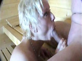 fucking and engulfing in the sauna