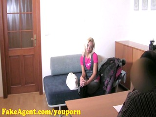 fakeagent hd mature blond does anal in casting