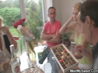 she is toying her bfs mother cookie and sucks