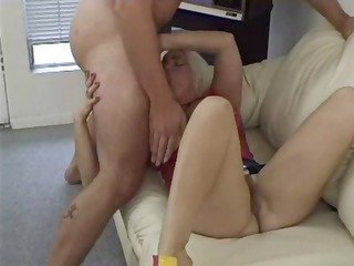 older golden-haired with good tits and a bushy