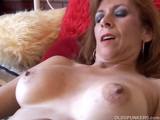 marvelous aged redhead is feeling horny