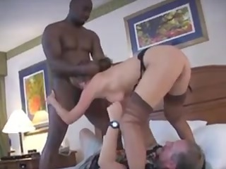 wife gets a tag team-implacable boner